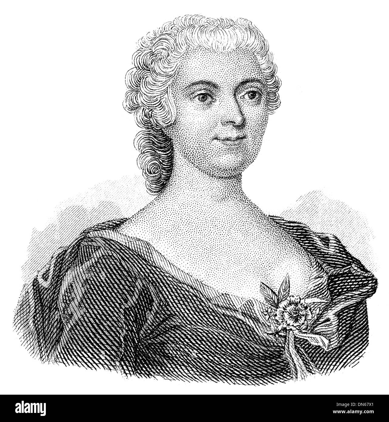Friederike Caroline Neuber, called Die Neuberin, 1697 - 1760, a German actress and theatre director. She is one of the most famo - Stock Image