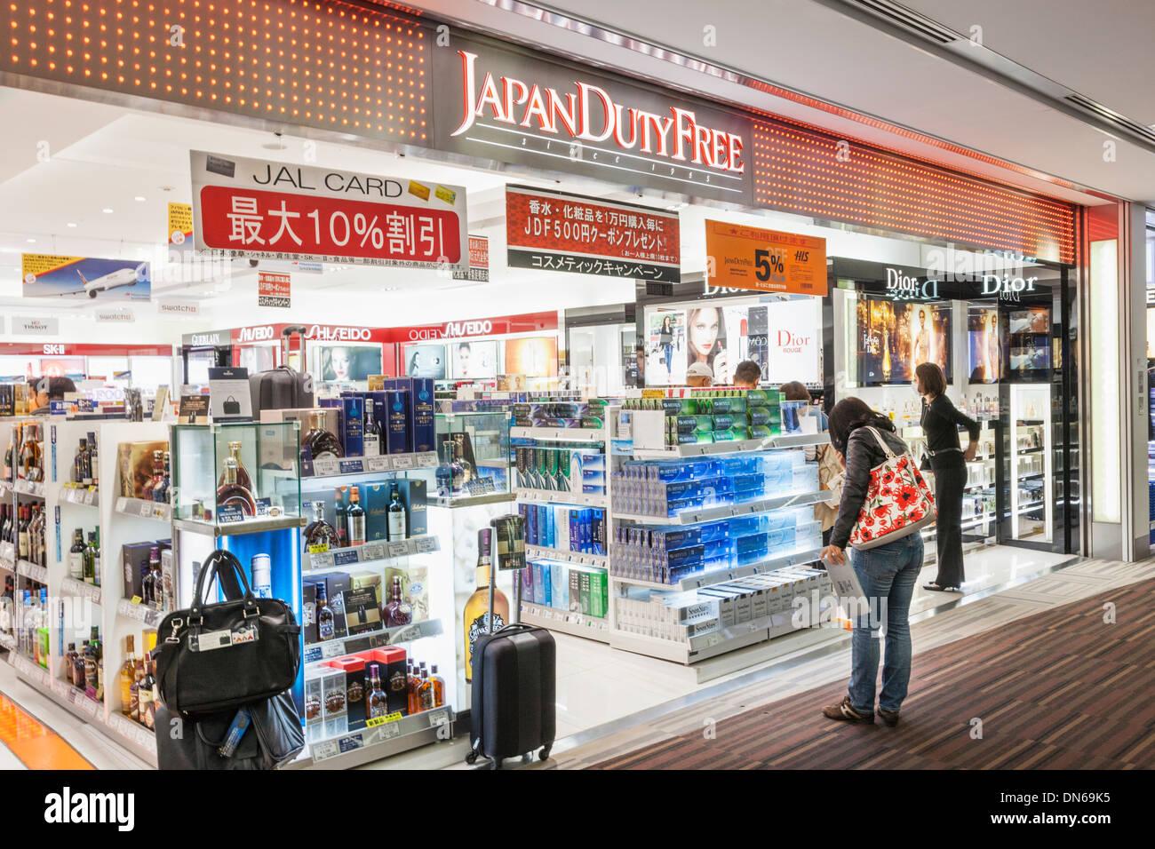 Japan Honshu Kanto Tokyo Narita Airport Departure Lounge Shops Stock Photo Alamy