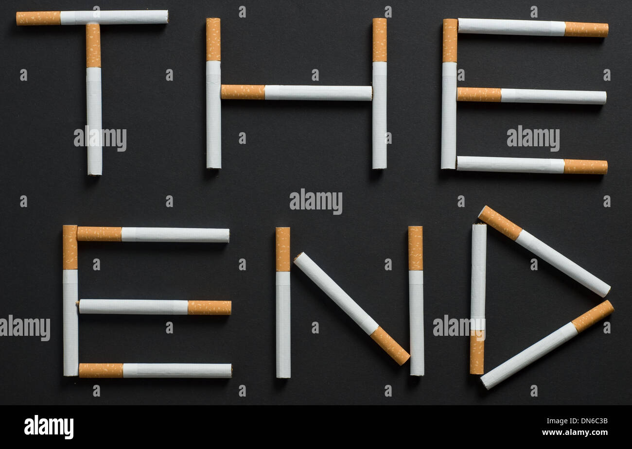 conceptual picture of death smoker - Stock Image
