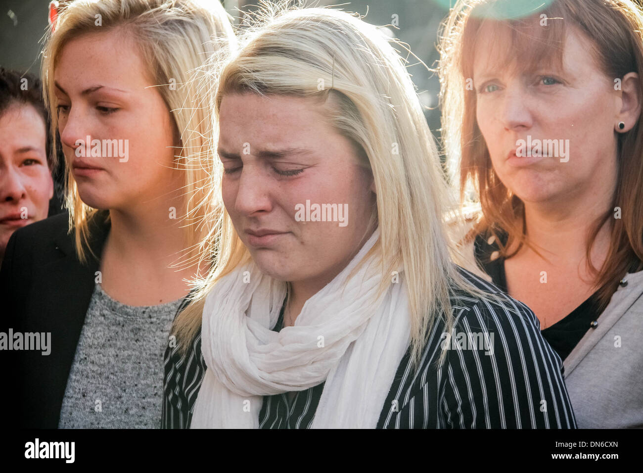 Lee Rigby family make statement just after Michael Adebolajo and Michael Adebowale are found guilty of murder at Old Bailey. - Stock Image