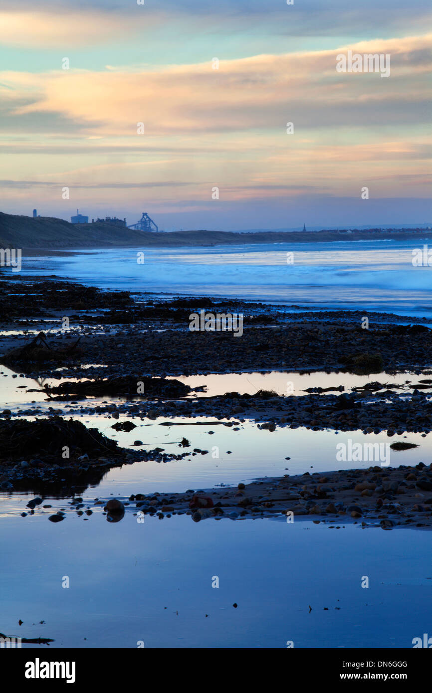 Redcar Steelworks from Saltburn by the Sea Redcar and Cleveland England - Stock Image