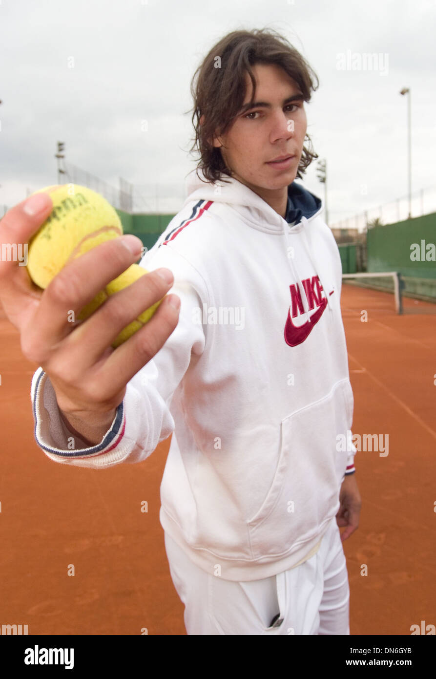 Rafa Nadal Pose At His Birthplace Tennis Club At Manacor Majorca Stock Photo Alamy