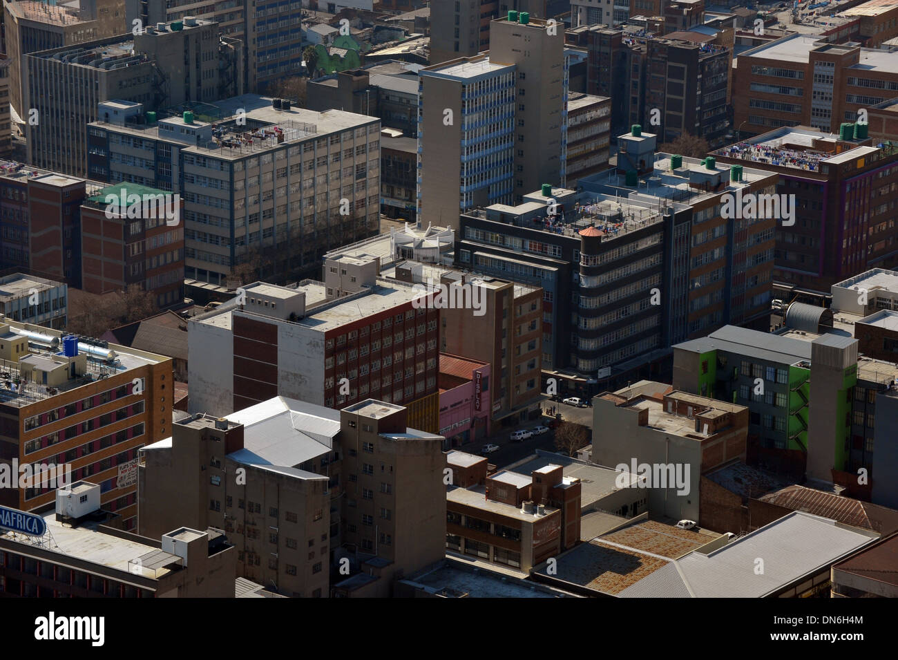 The view of an Urban area from an elevated position. - Stock Image