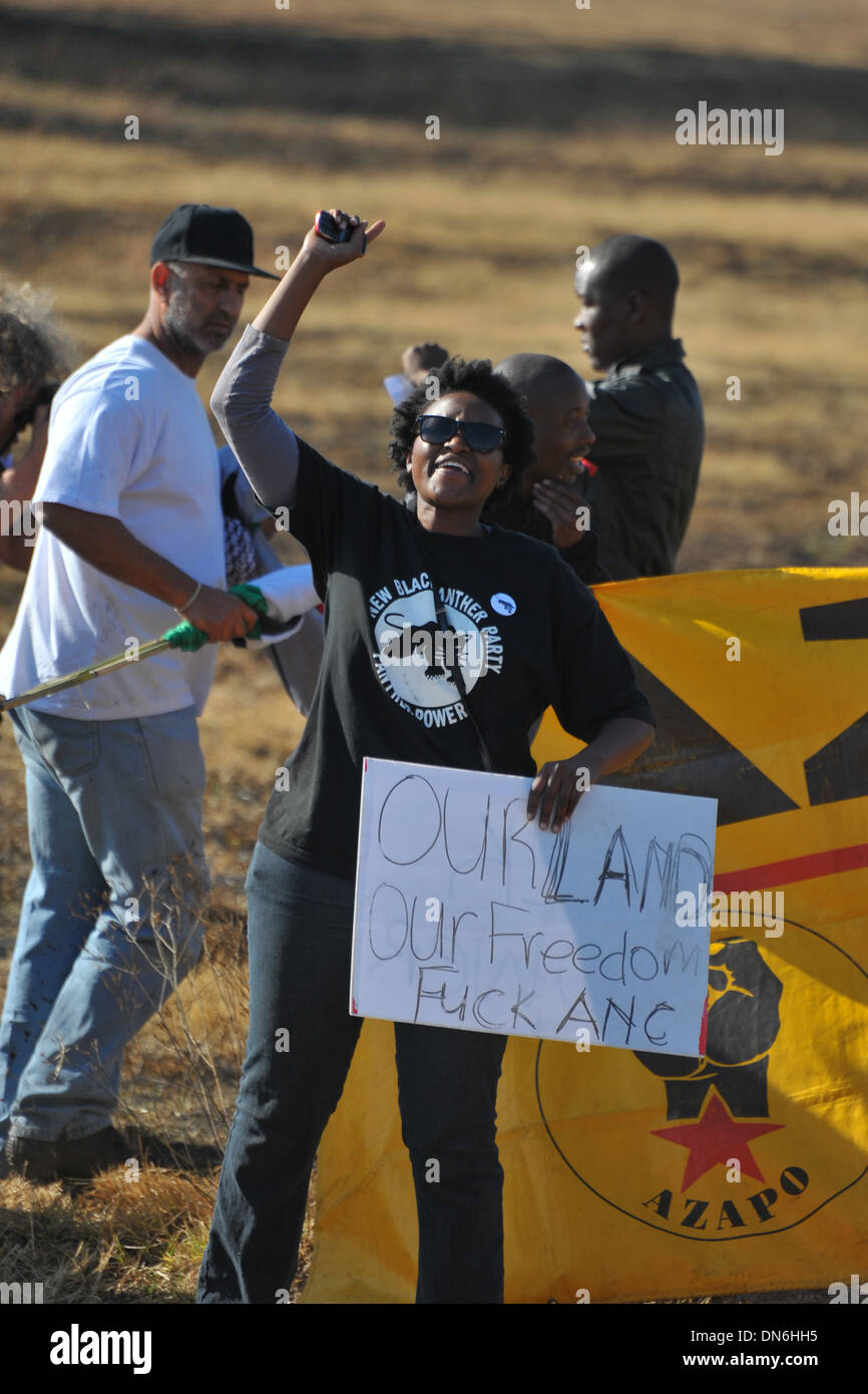 An anti ANC protester in Soweto - South Africa. - Stock Image