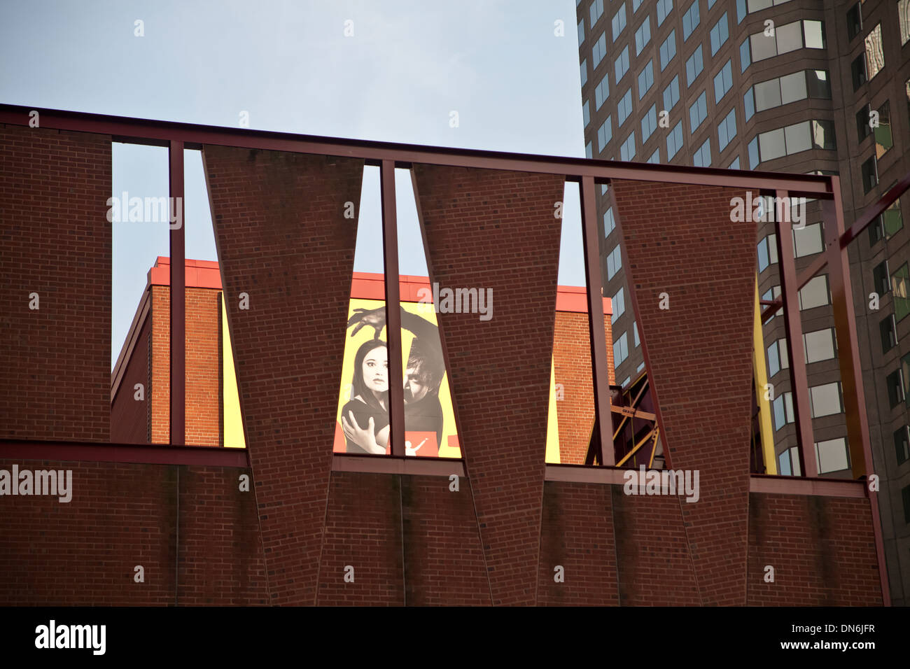 Architecture and wall art, Montreal, Canada. - Stock Image