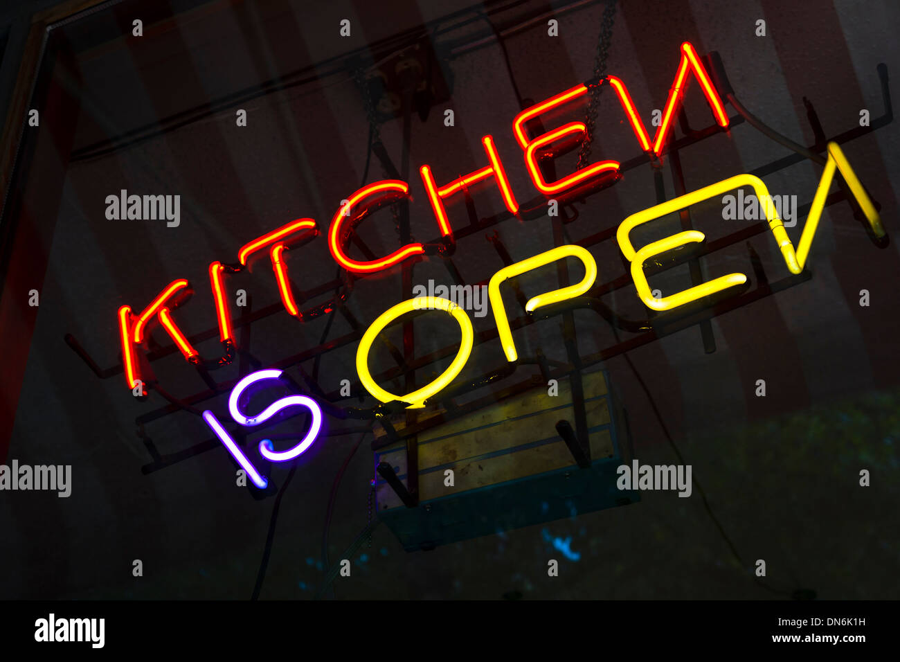 Neon Kitchen High Resolution Stock Photography And Images Alamy