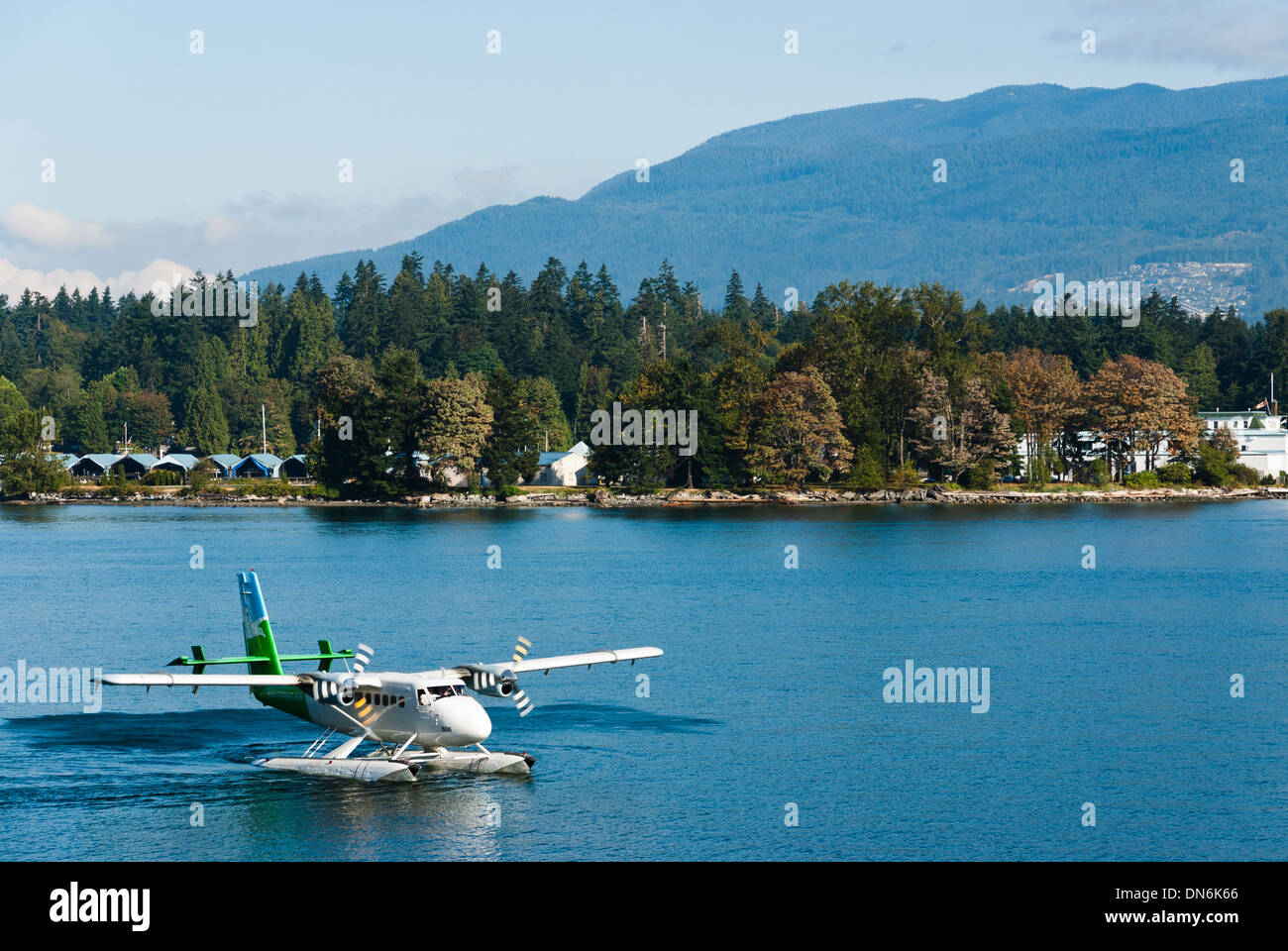 Westcoast Air DHC-6 DeHavilland Twin Otter getting ready for take-off in Vancouver, British Columbia, Canada. Stock Photo