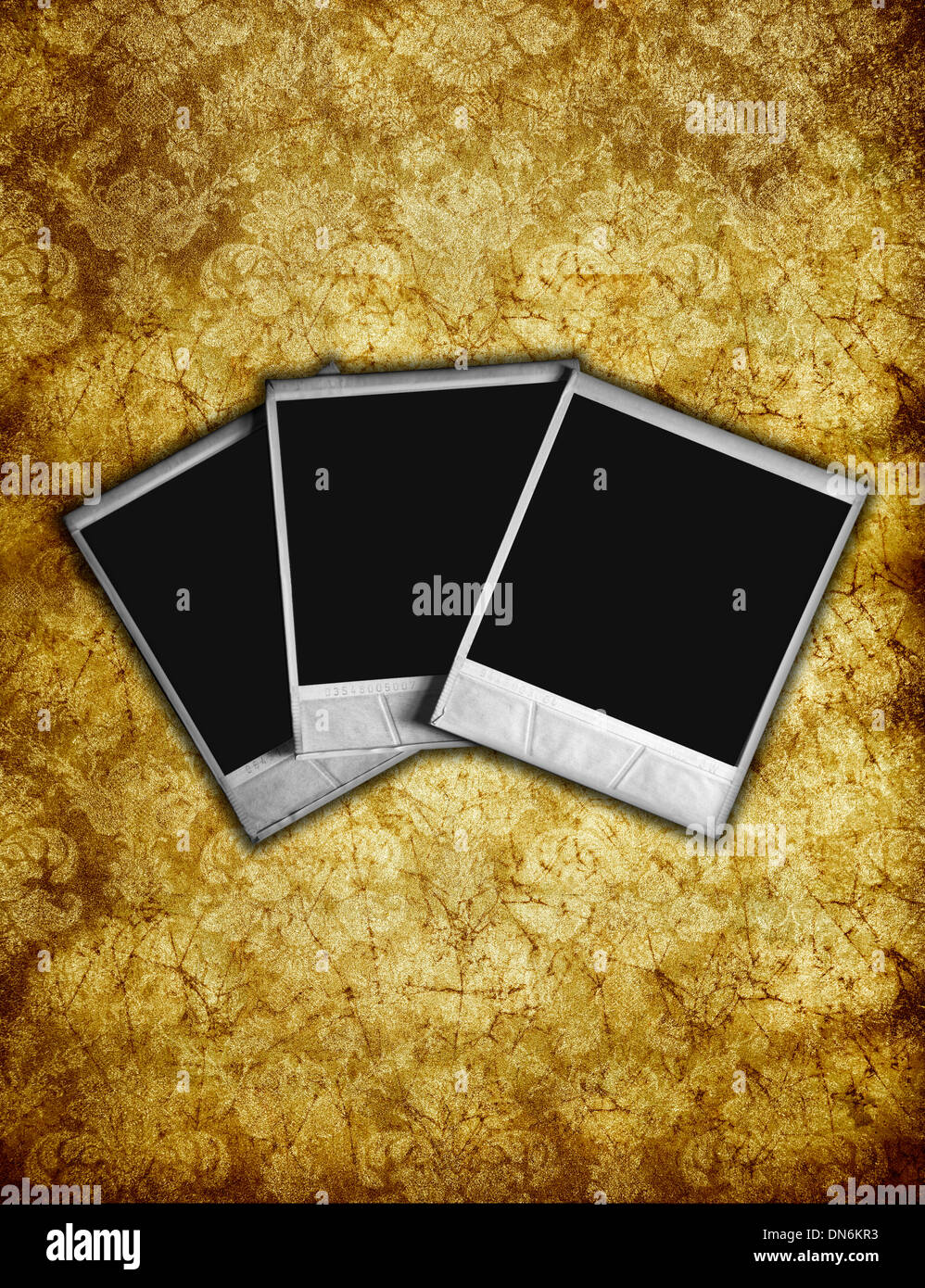 vintage paper and photo frame - Stock Image