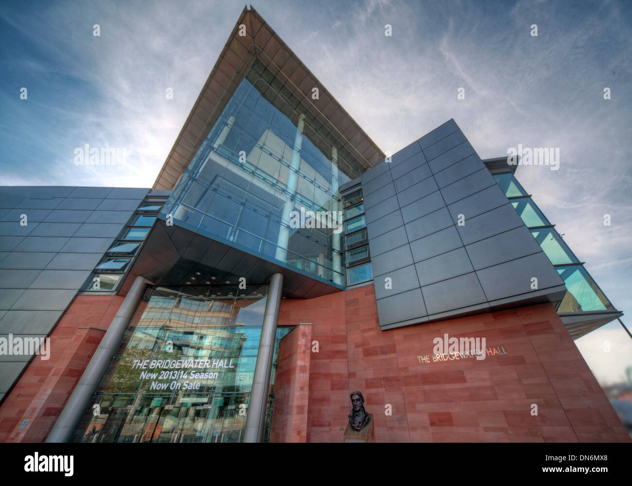 Bridgewater Hall international concert venue in Manchester city centre England UK - Stock Image