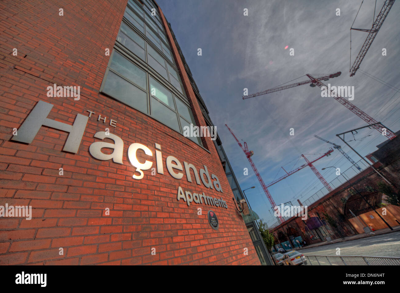 Fac51 Hacienda Apartments, Whitworth St Manchester England UK Stock Photo