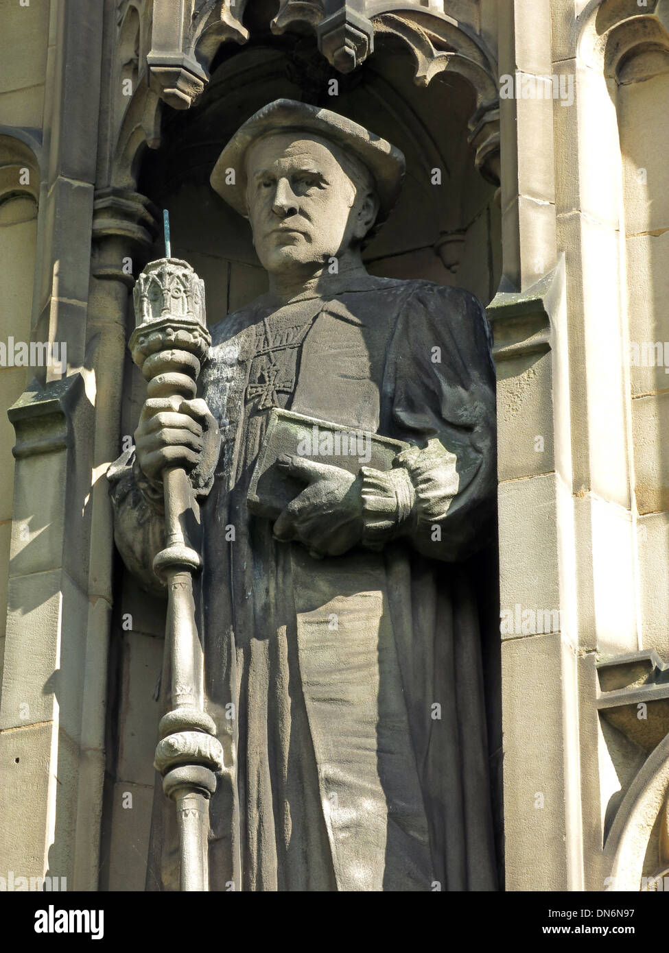 James Moorhouse Statue Manchester Cathedral England UK - Stock Image