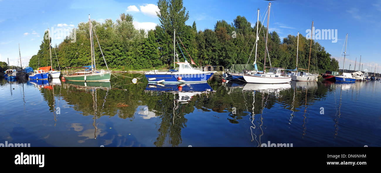 Spike Island Widnes Dock Panorama Halton England UK - Stock Image