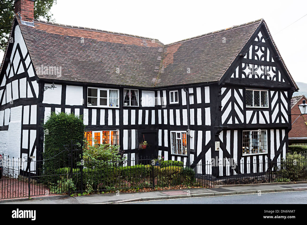 Tudor half timbered cottage, Church Stretton, Shropshire - Stock Image
