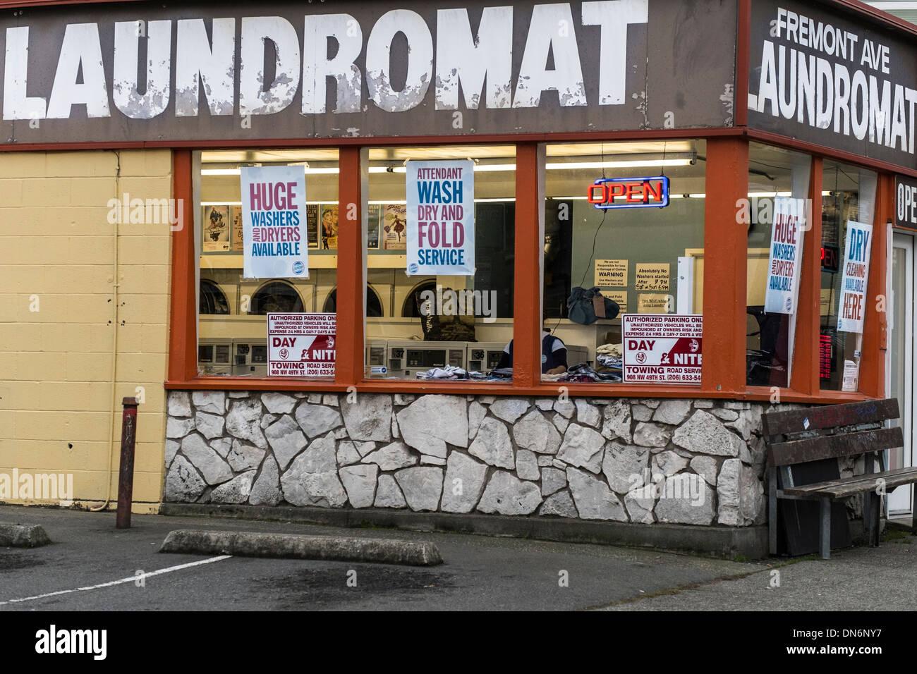 Laundromat america stock photos laundromat america stock images seattle fremont laundromat stock image solutioingenieria Images