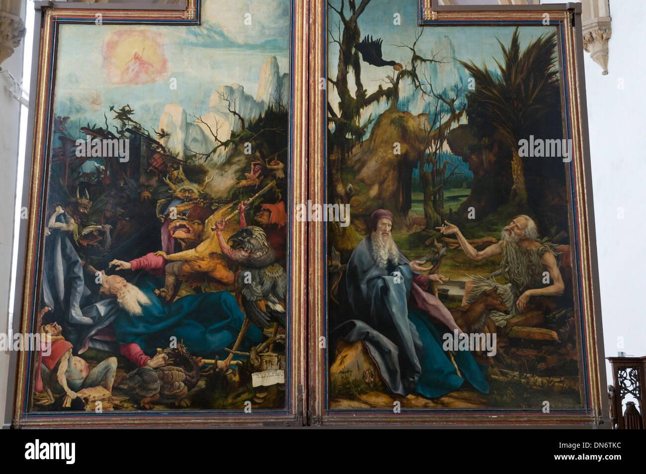 Elk213-2912 France, Alsace, Colmar, Unterlinden Museum, altar retable - Stock Image