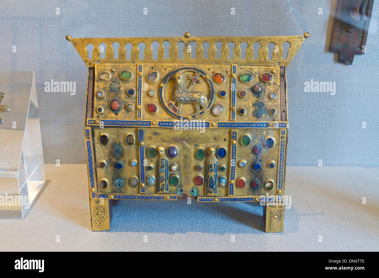 Elk213-2917 France, Alsace, Colmar, Unterlinden Museum, jewel box - Stock Image