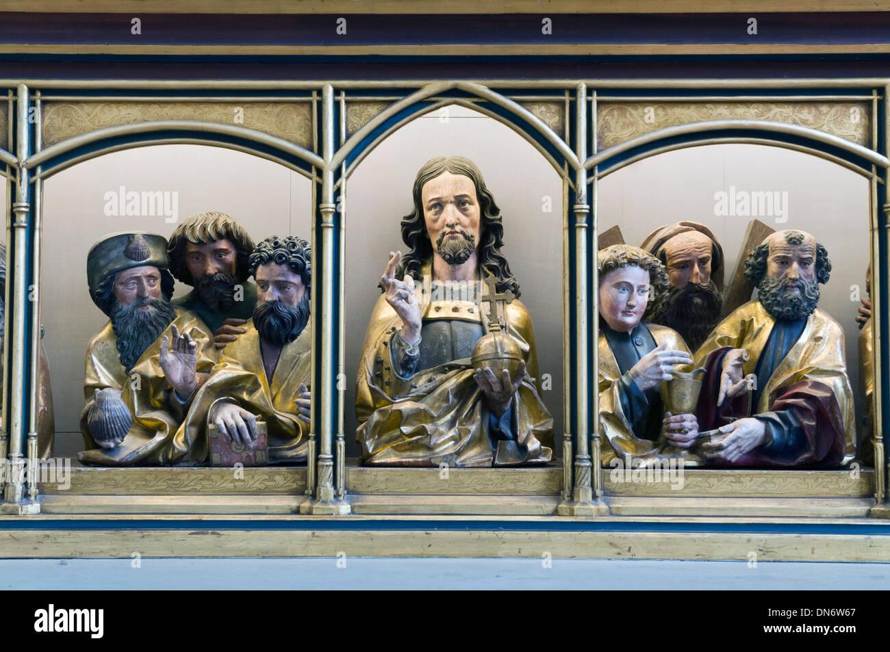 Elk213-2905 France, Alsace, Colmar, Unterlinden Museum, altar retable - Stock Image