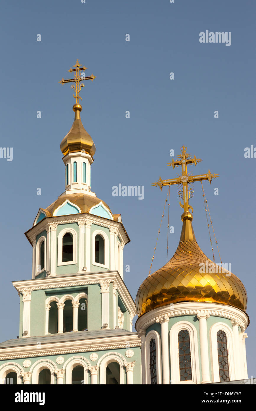 Saint Uspensky Sobor Russian Orthodox Assumption Cathedral, Tashkent, Uzbekistan Stock Photo