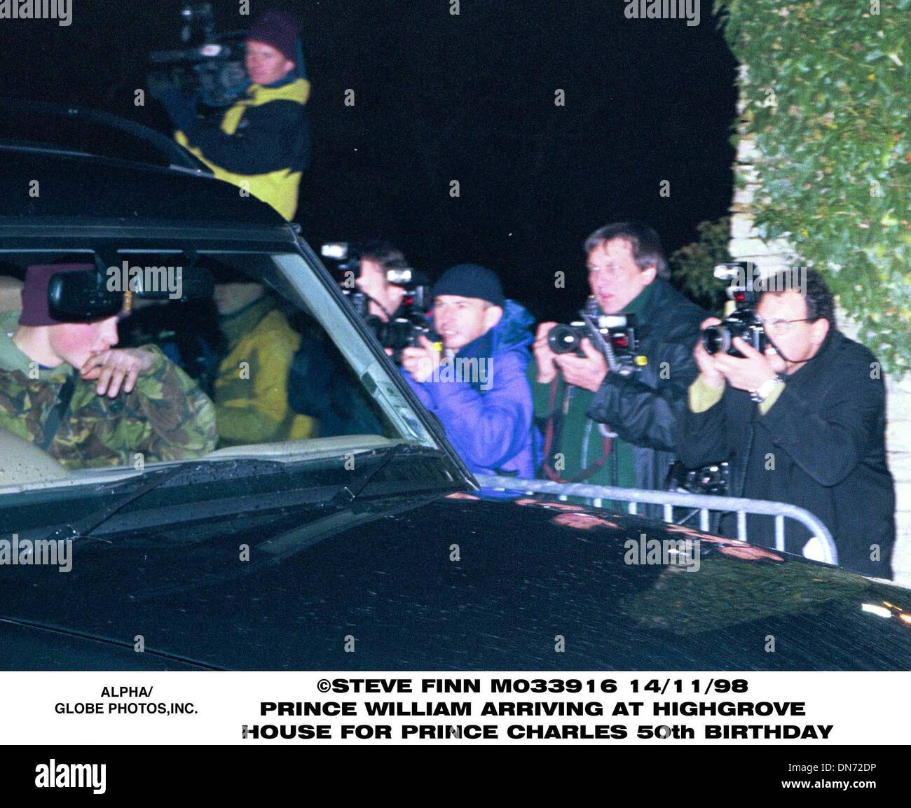 Nov. 13, 1998 - Great Britain - 14/11/98.PRINCE WILLIAM ARRIVING AT HIGHGROVE HOUSE .FOR PRINCE CHARLES 50th BIRTHDAY(Credit Stock Photo