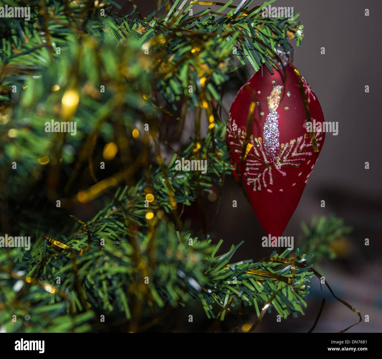 christmas decorations close up of baubbles swedish horse victoria baubble bon bon crackers on the christmas - Swedish Christmas Tree