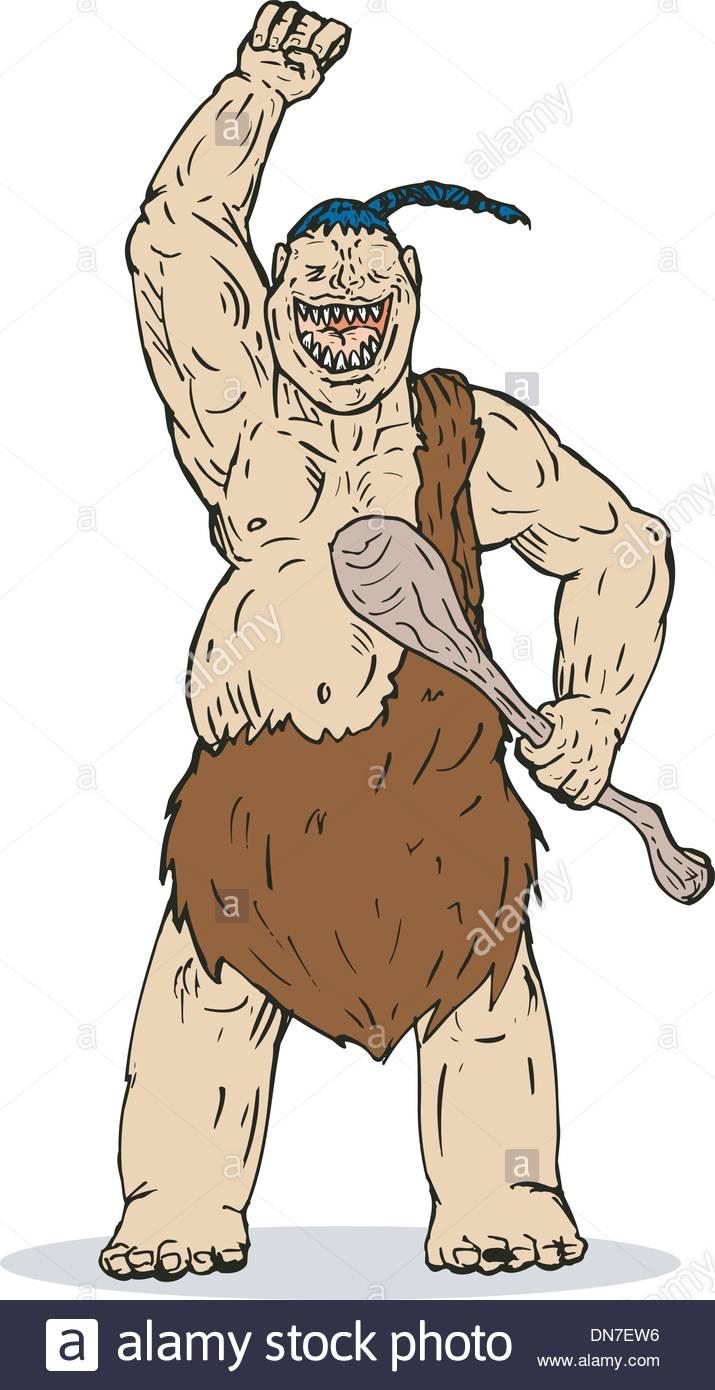 Super Hero Caveman - Stock Image