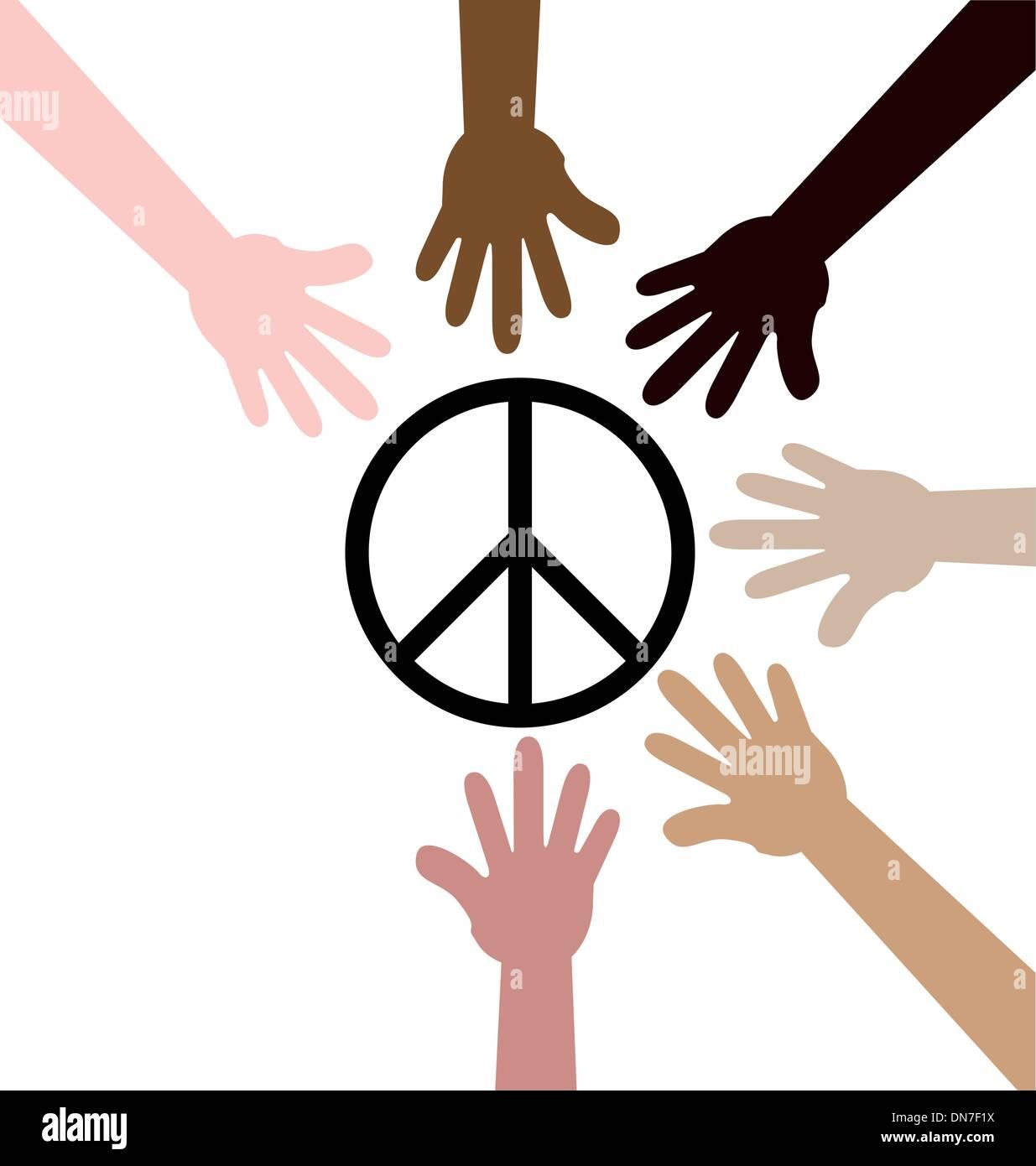 Multicolor Diversity Hands Symbol Stock Photos Multicolor