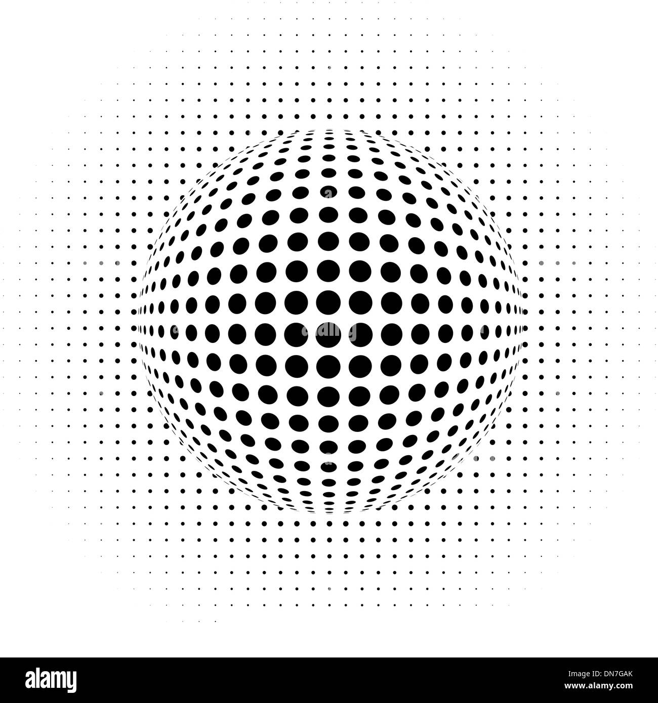 abstract background - optical illusion - Stock Image