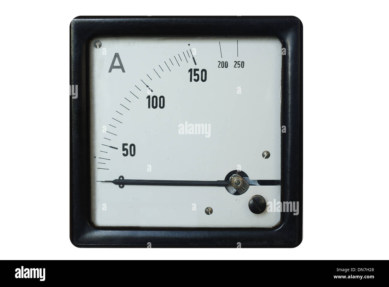 Ammeter And Circuit Stock Photos Images Amp Meter Old On A White Background Image