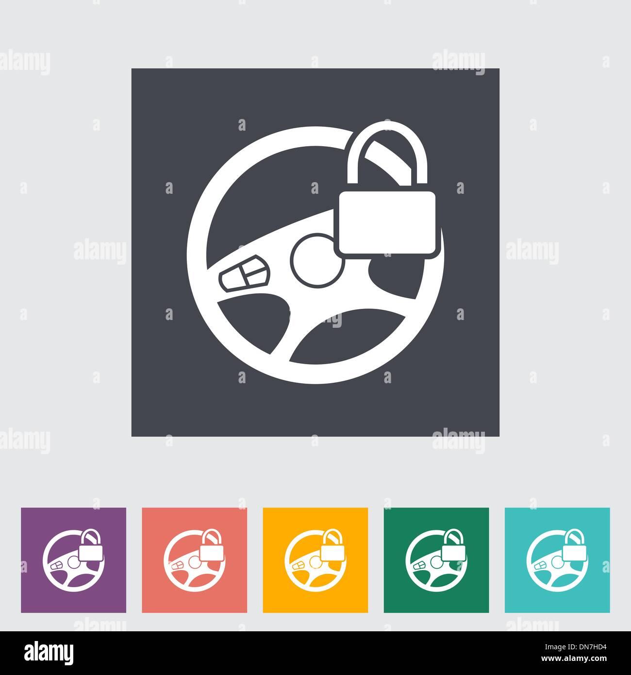 Steering Wheel Lock Stock Photos & Steering Wheel Lock