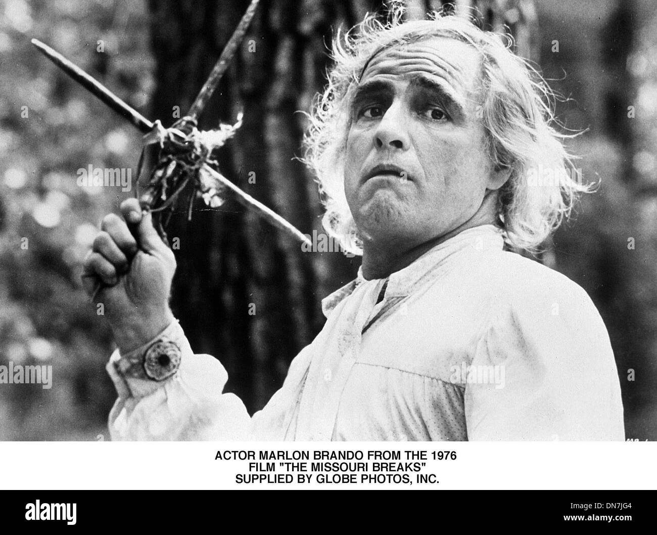 May 11, 2001 - ACTOR MARLON BRANDO FROM THE 1976 .FILM ''THE MISSOURI BREAKS''.SUPPLIED BY (Credit Image: © Globe Photos/ZUMAPRESS.com) - Stock Image