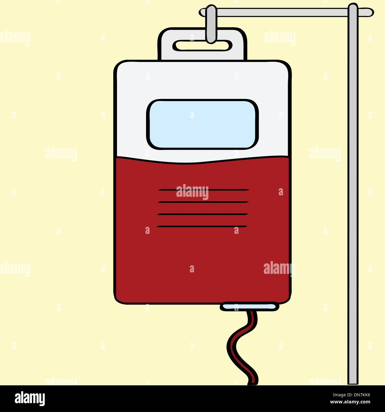 Blood transfusion - Stock Vector