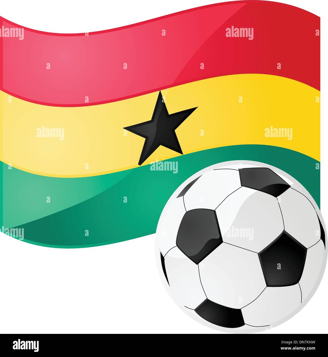Ghana soccer - Stock Vector
