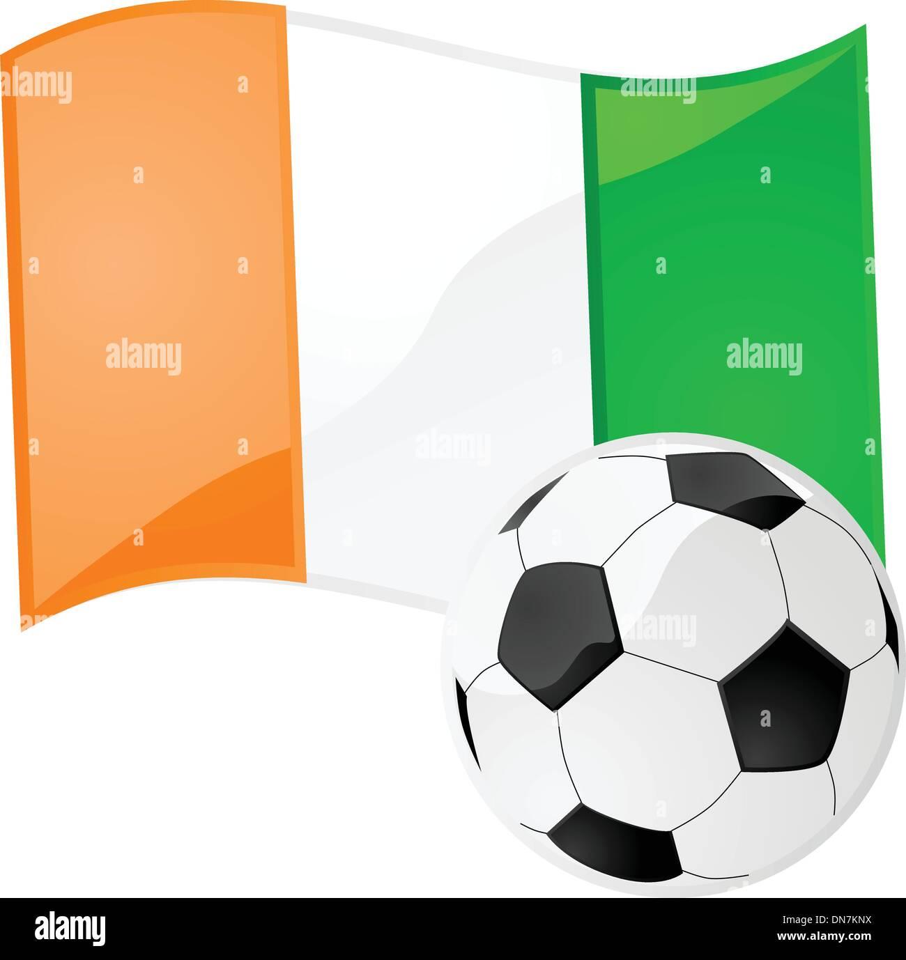 Cote d'Ivoire soccer - Stock Image