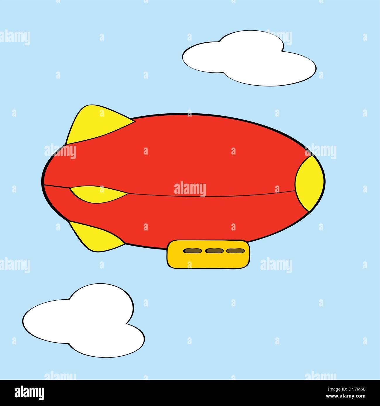 Cartoon blimp - Stock Image