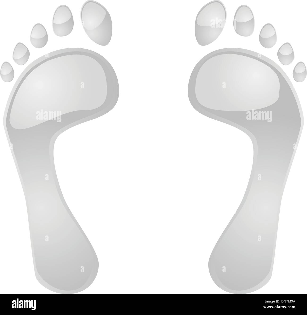 Glossy feet - Stock Vector