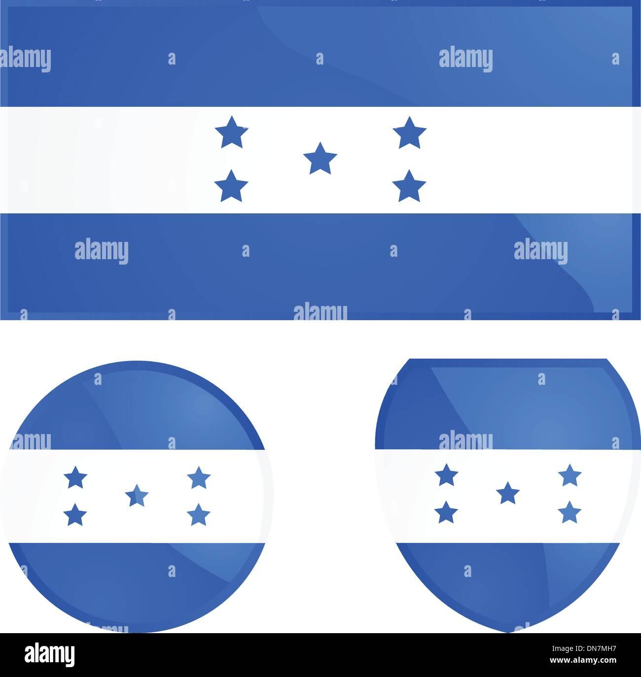 Honduras flag and emblem Stock Vector