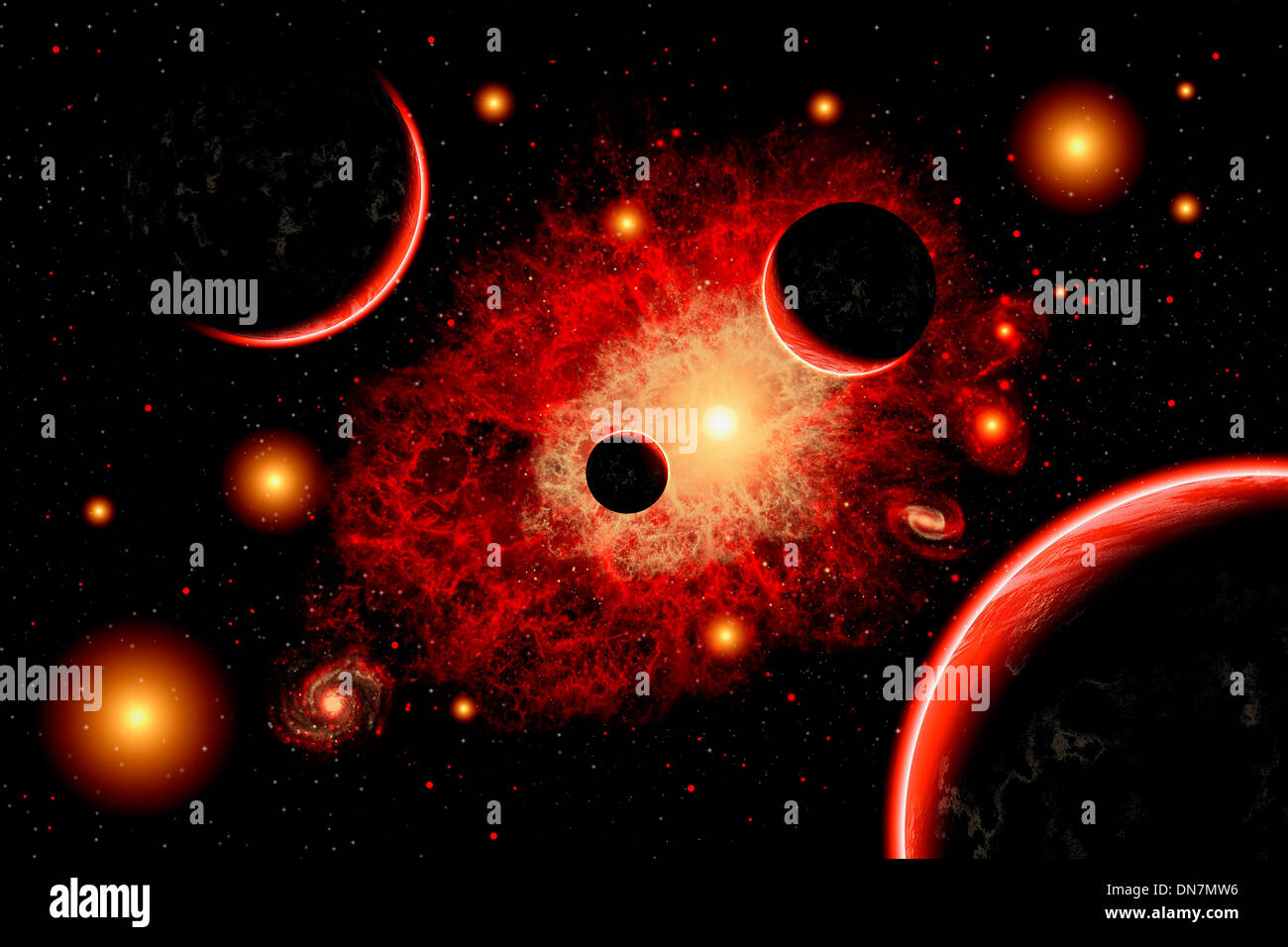 Red Giants Star System - Stock Image