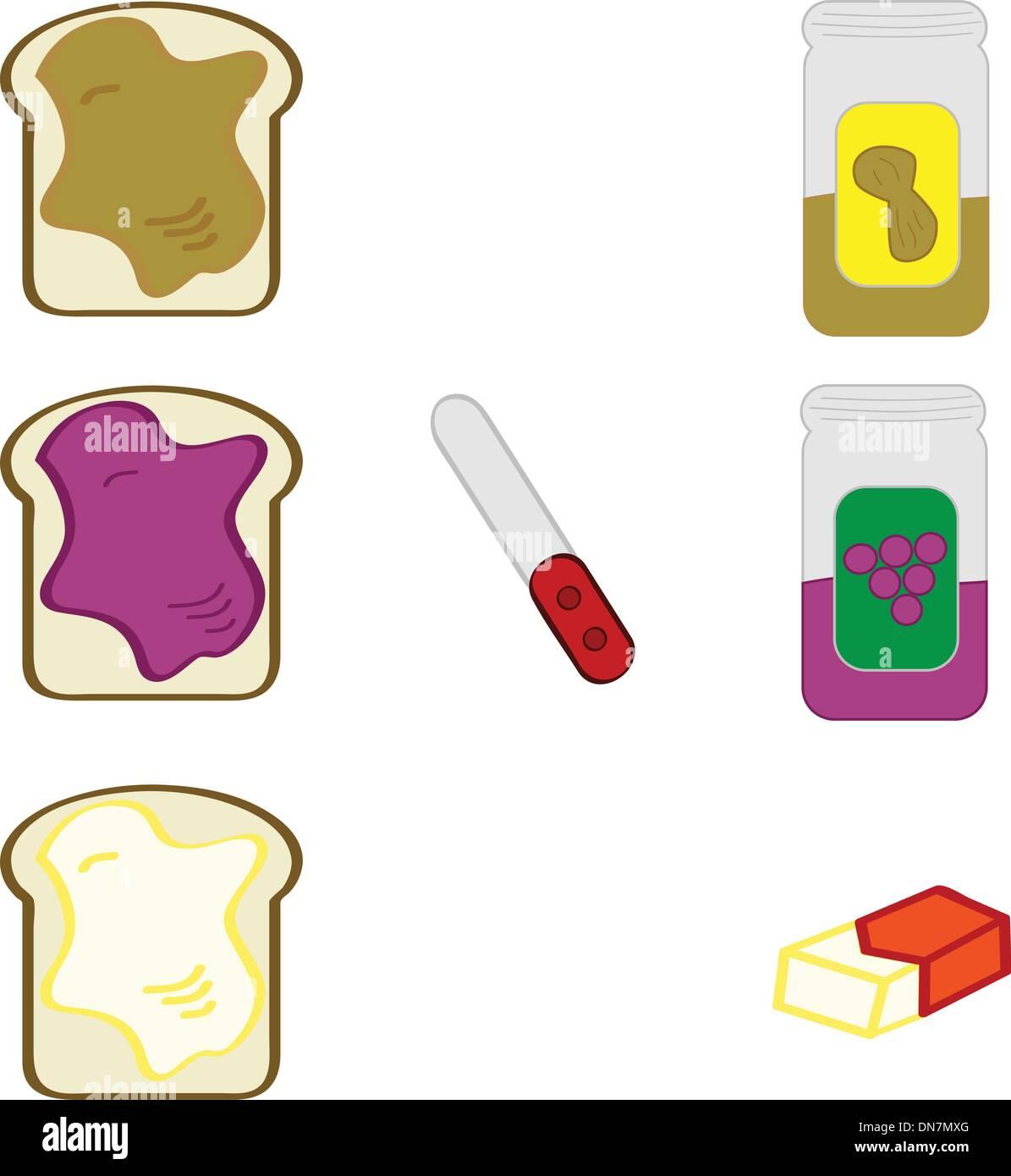 Bread spreads - Stock Image