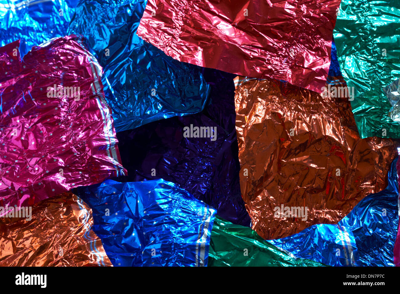 Empty chocolate wrappers - Stock Image