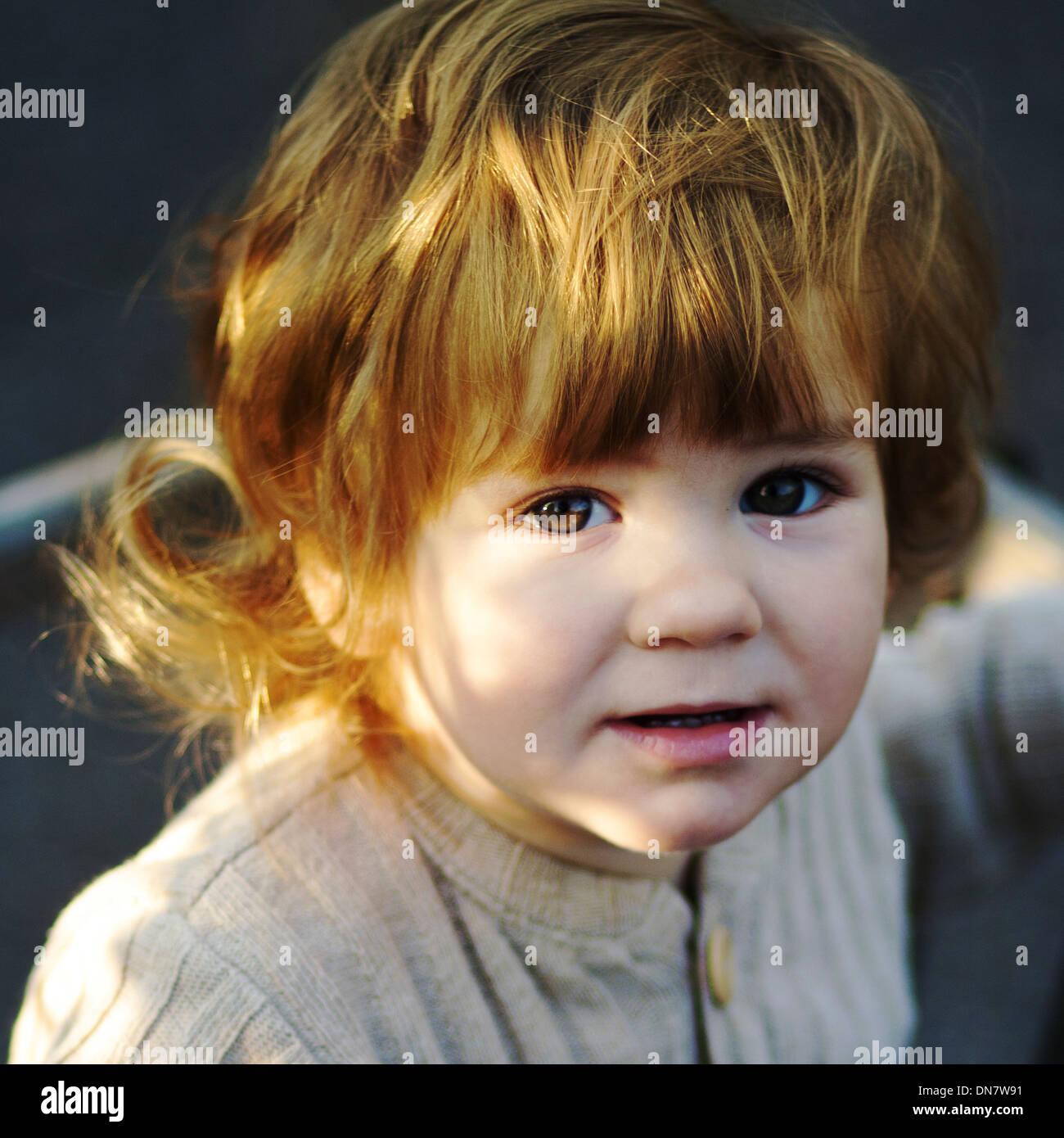 Portrait of a little boy - Stock Image