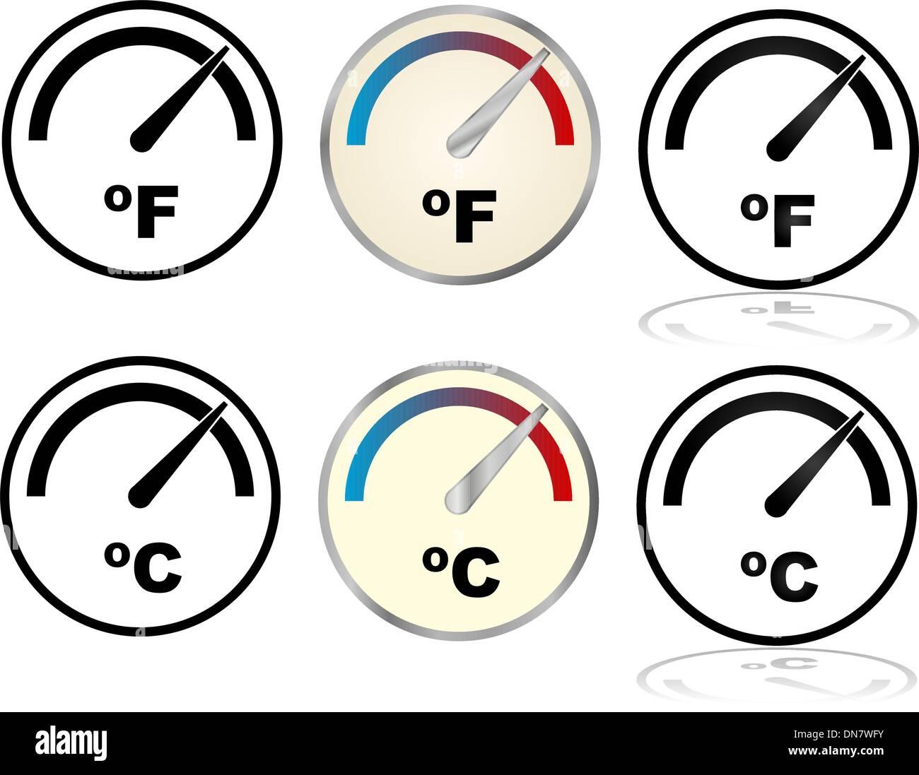 Temperature indicator - Stock Image
