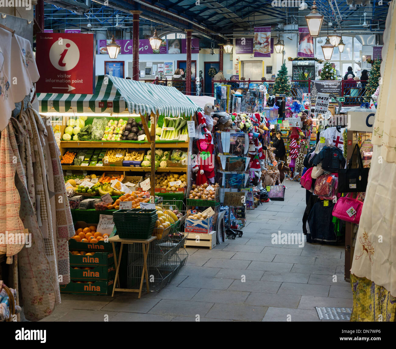 Durham Indoor Market Hall - Stock Image