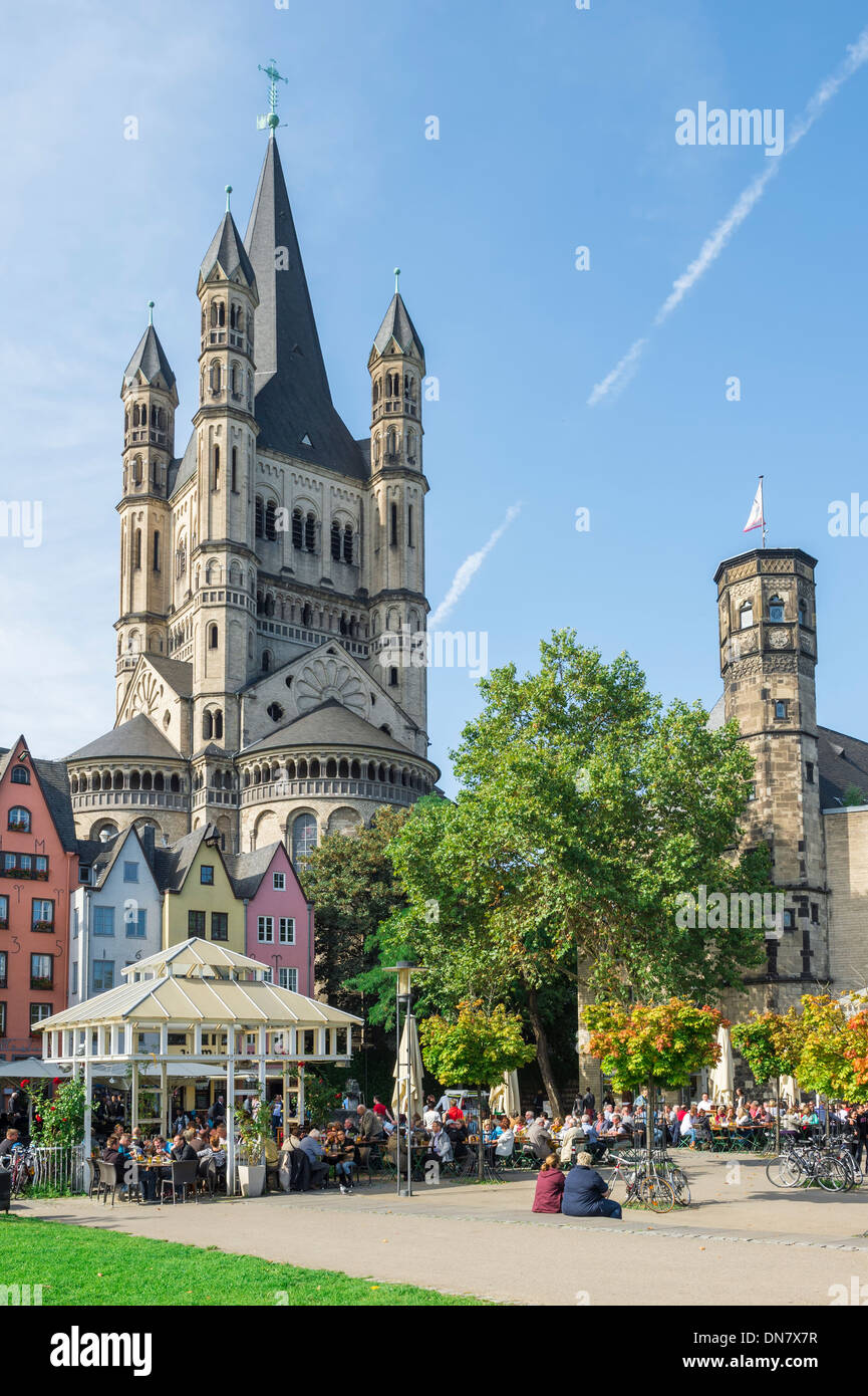 Great St. Martin Church, Cologne, North Rhine Westphalia, Germany - Stock Image