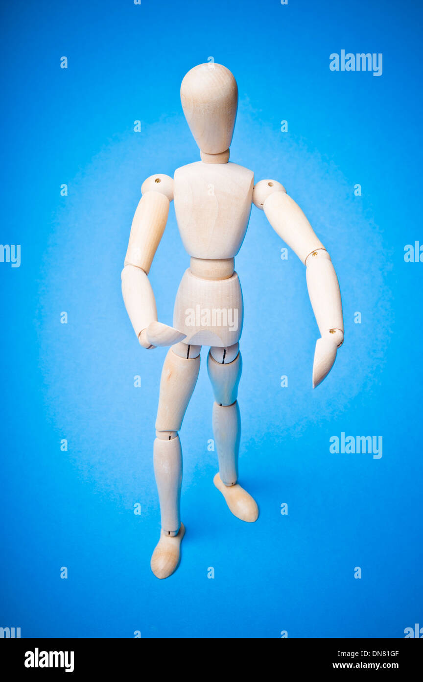 articulated mannequin for artists - Stock Image