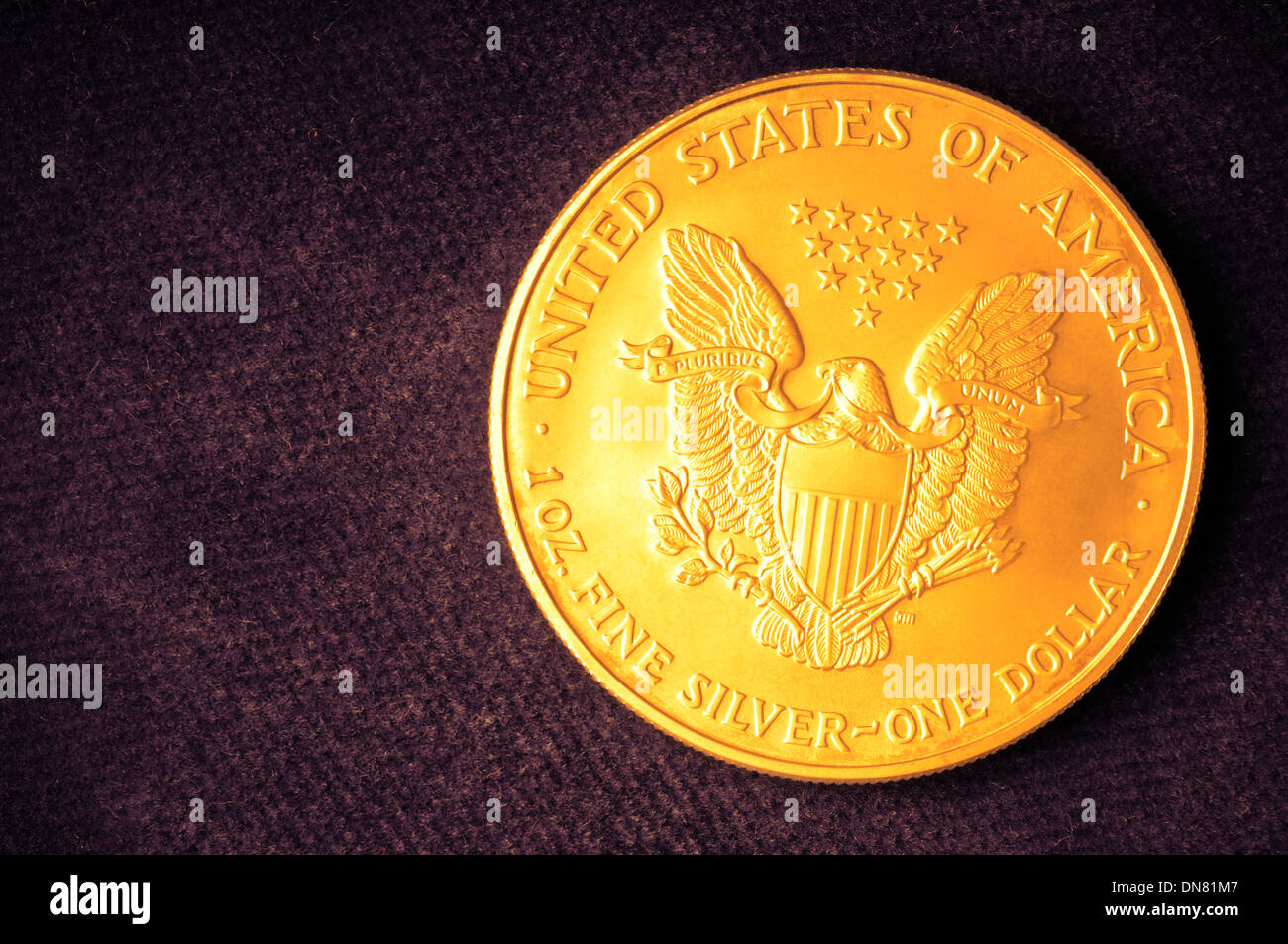American one dollar coin - Stock Image