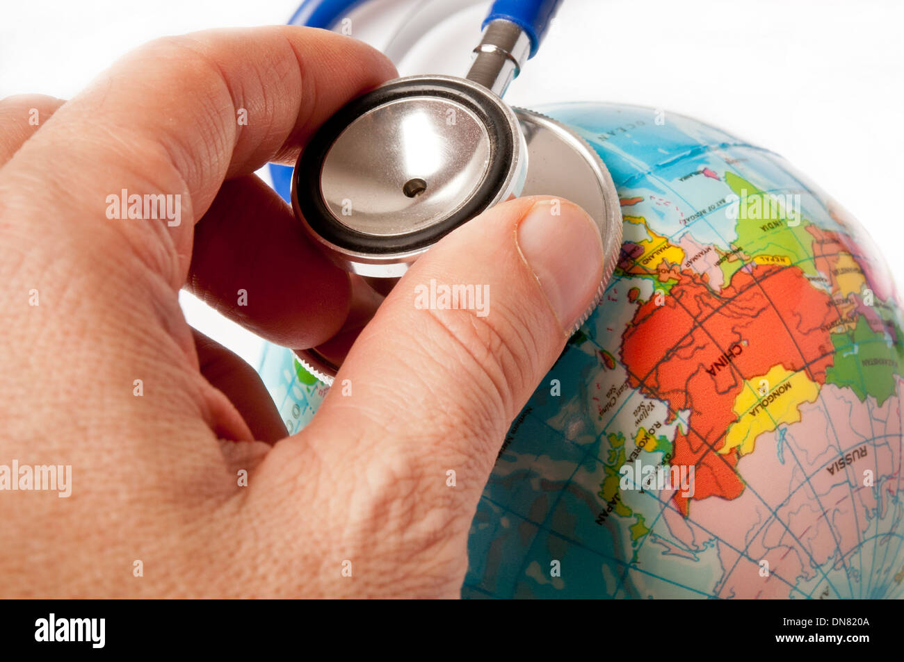 healing the planet earth - Stock Image