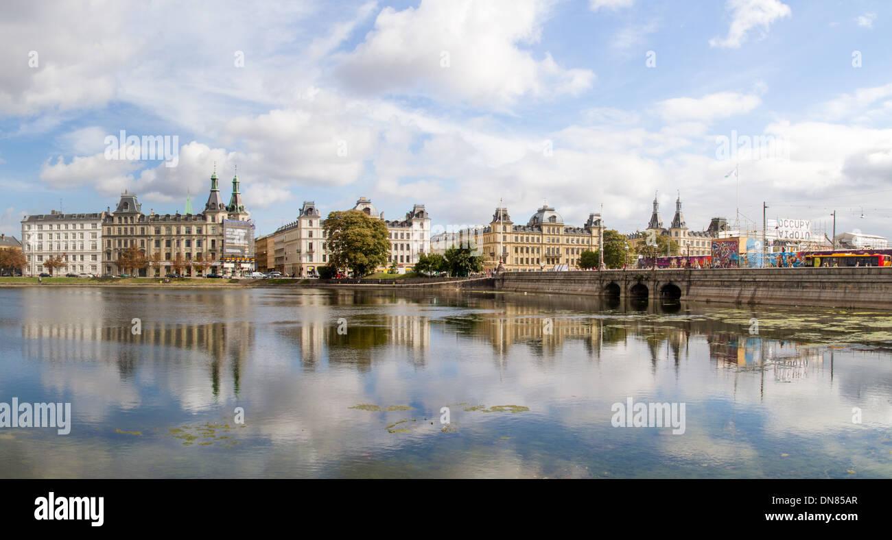 View across the Soerne towards the historic centre of Copenhagen Denmark - Stock Image