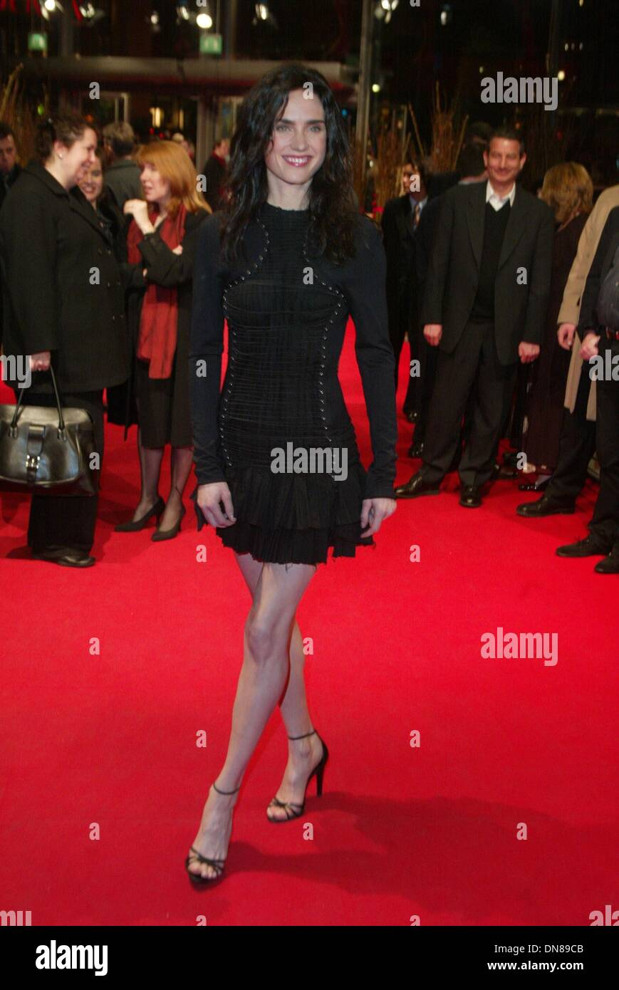 Feb. 12, 2002 - Jennifer Connelly.at the premiere of ''Beautiful Mind''.Filmfest Berlin, 2/12.© Alec Michael 2002.All Rights Reserved(Credit Image: © Globe Photos/ZUMAPRESS.com) - Stock Image