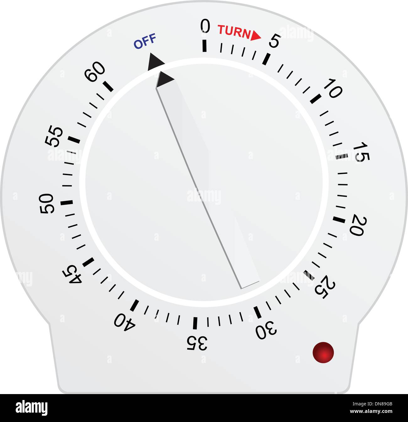 Timer for 60 seconds - Stock Image