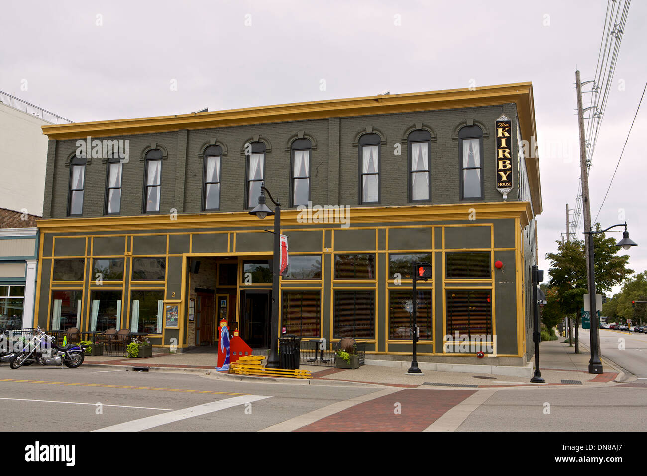 Kirby House restaurant in Grand Haven, Michigan - Stock Image